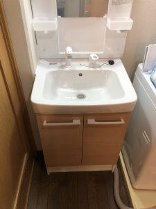 洗面のリフォーム・アフター(LIXILのオフト)