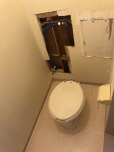 トイレ給水位置移動